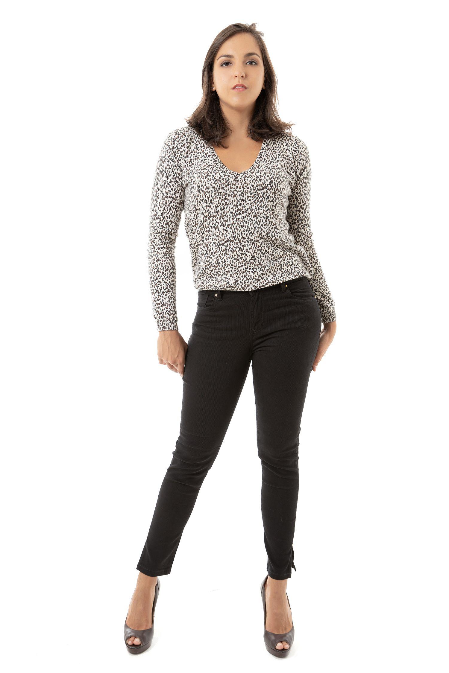 Calça Cropped Feminina Fact Jeans ref. 03674 - Preta