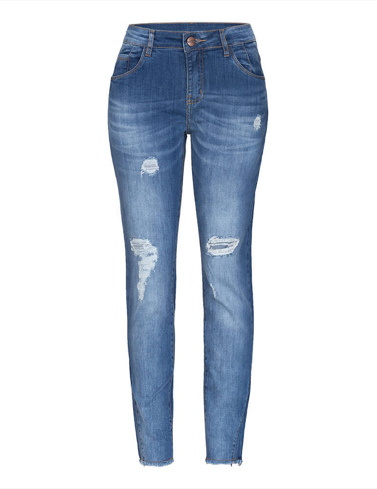 Calça Cropped Feminina Fact Jeans ref. 03355