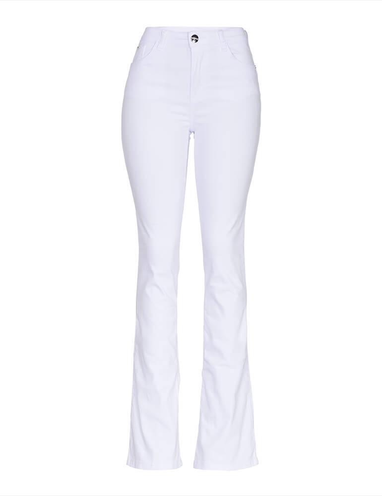 cad2463ec Calça Flare Branca | Roupas Femininas - Gironobras