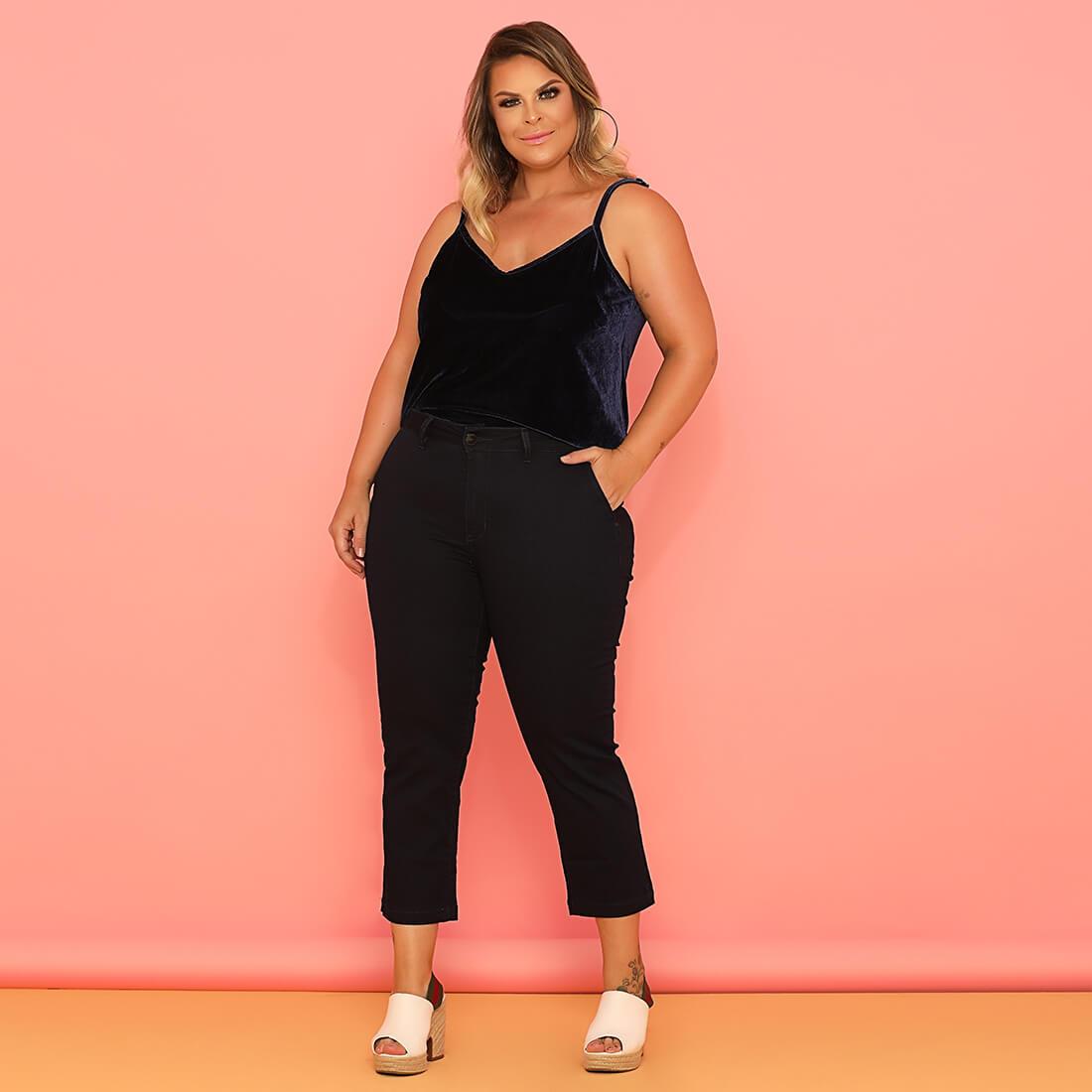 Calça Capri Sarja Fact Jeans ref. 03623 - Plus Size