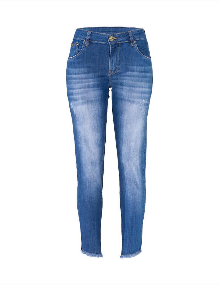 Calça Jeans Cigarrete Feminina Fact Jeans ref. 03660