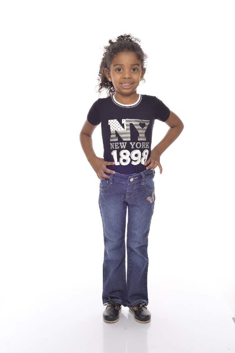 Calça Jeans Flare Bordada Infantil [784]