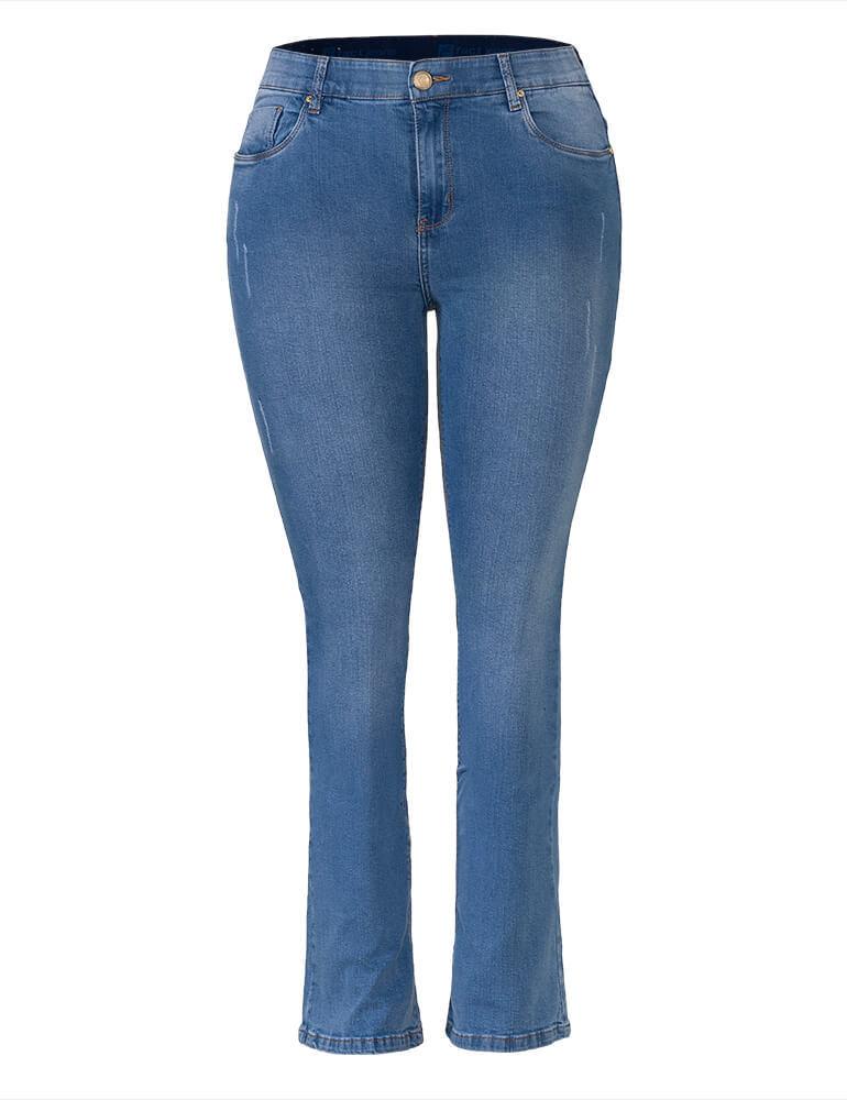 Calça Jeans Flare Feminina Fact Jeans ref. 03853 - Plus Size