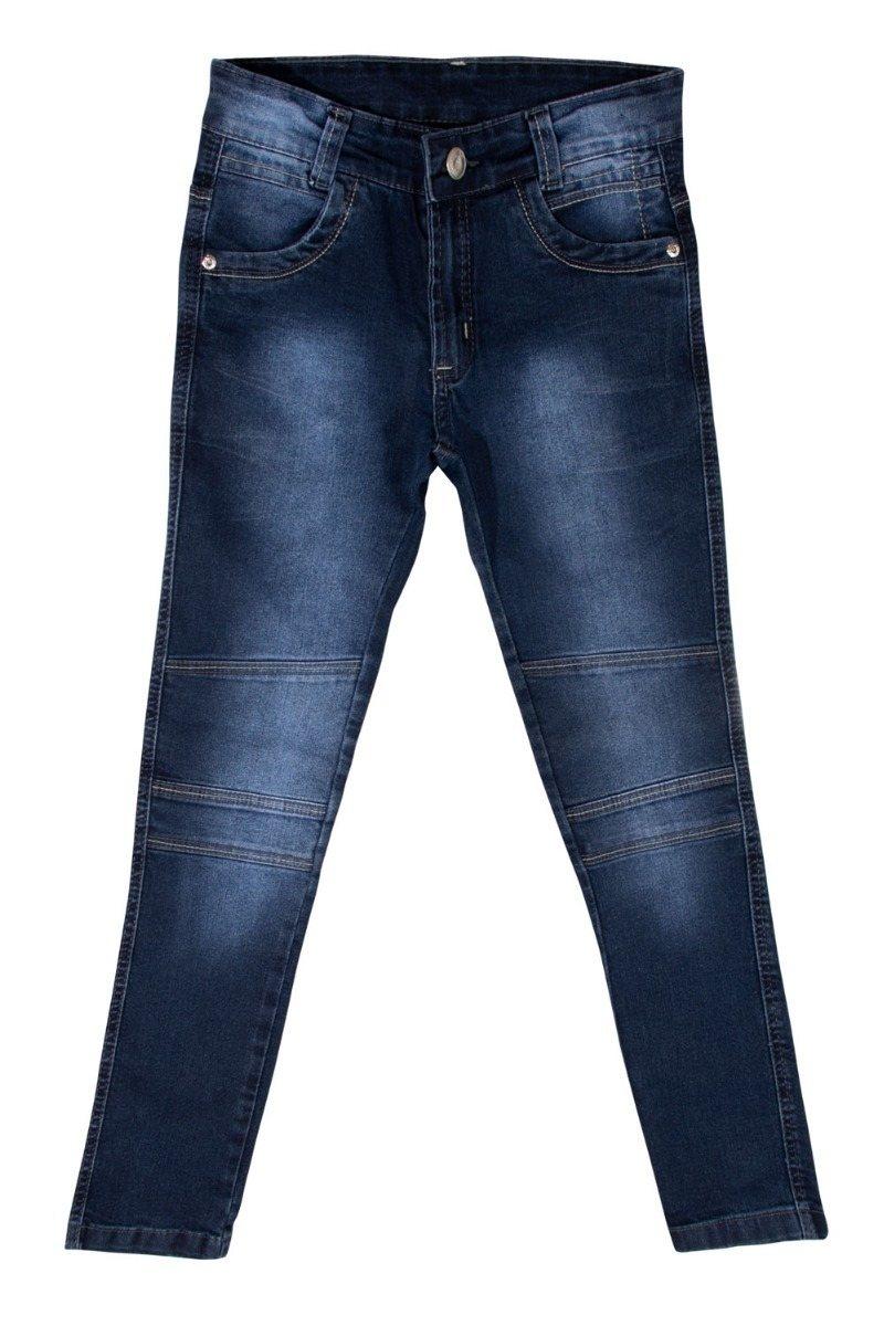 Calça Jeans Juvenil Meninos Skinny com Regulador de Tamanho do 10 ao 16 [Ref 3085]