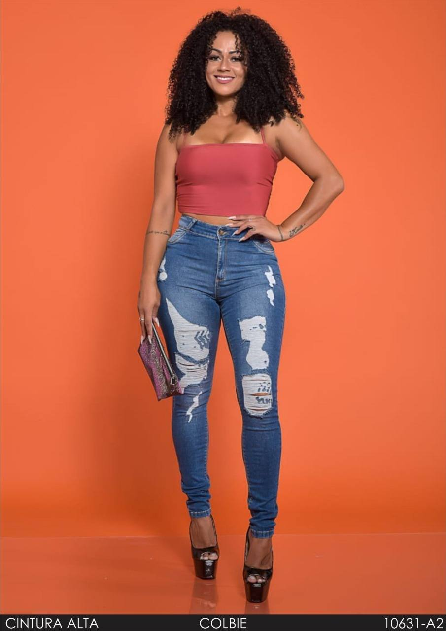 Calça Jeans Skinny Cintura Alta ref. 10631-A2