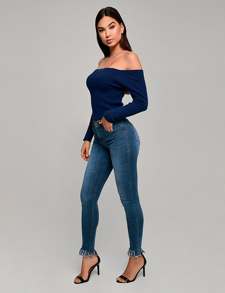 Calça Jeans Skinny Feminina Fact Jeans ref. 03650