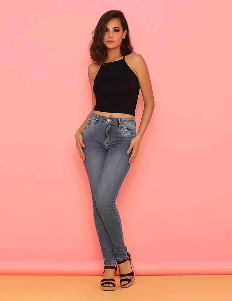 Calça Jeans Skinny Feminina Fact Jeans ref. 03730