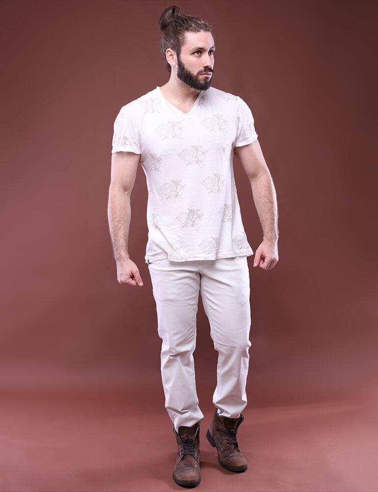 Calça Masculina Tradicional Fact Jeans - Areia [2949]