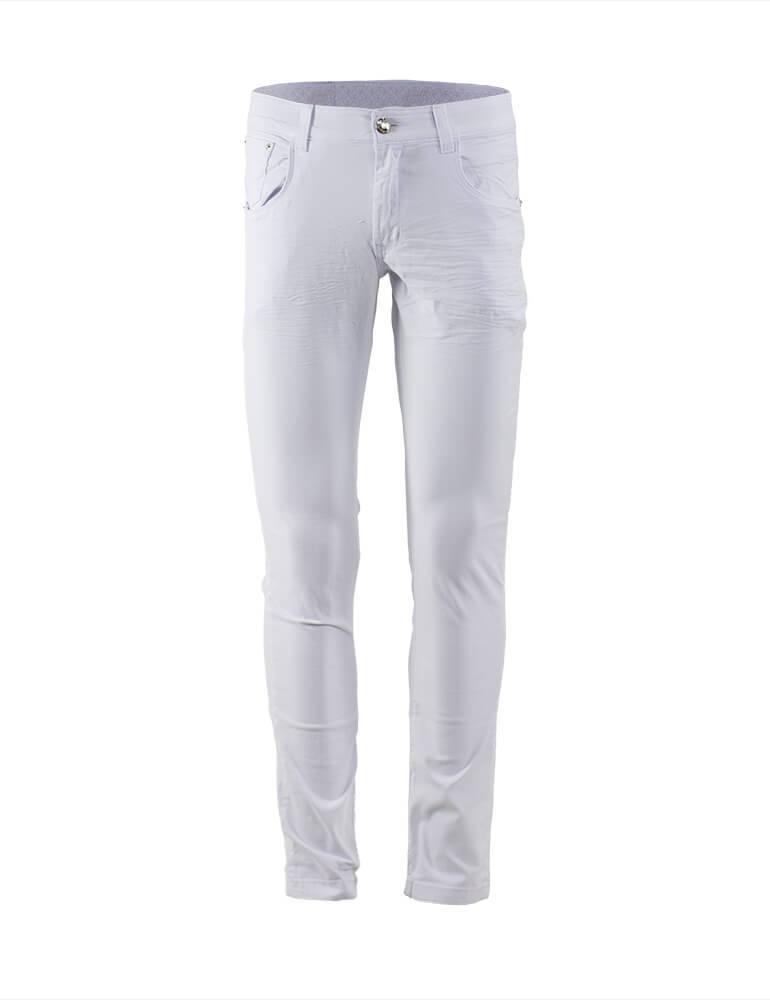 Calça Masculina Tradicional Fact Jeans - Branca [2462]