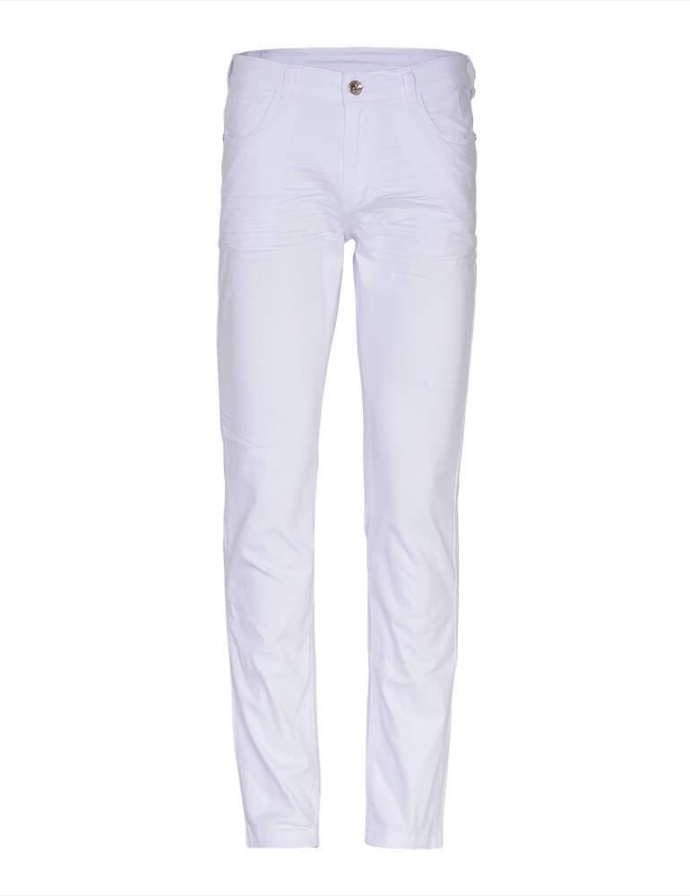 Calça Masculina Tradicional Fact Jeans - Branca [3572]