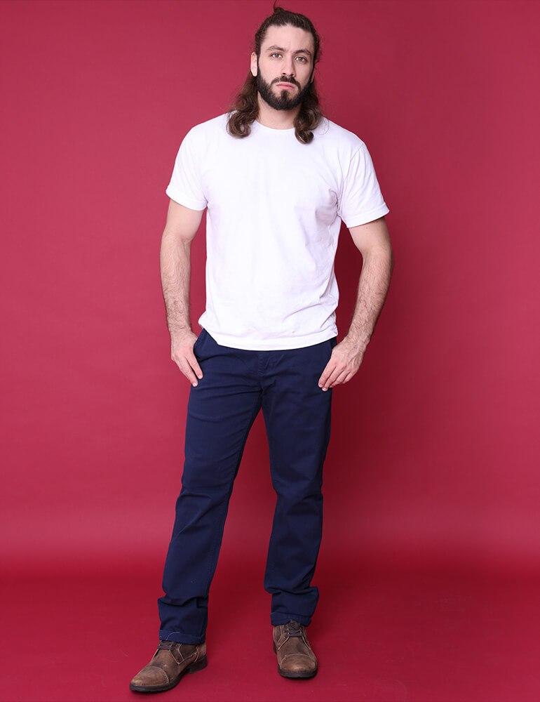 Calça Masculina Tradicional Fact Jeans - Marinho [2949]
