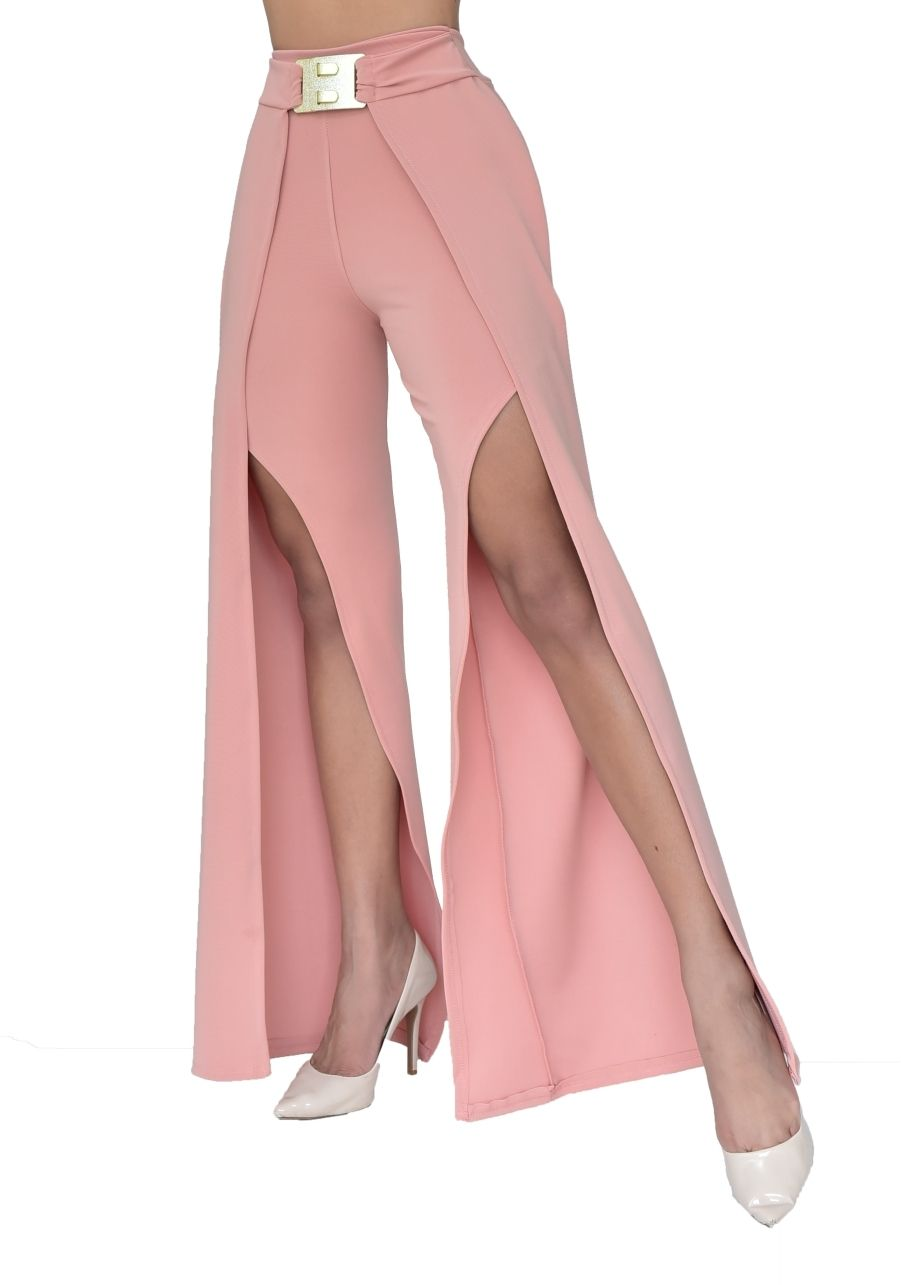 Calça Pantalona com Fenda
