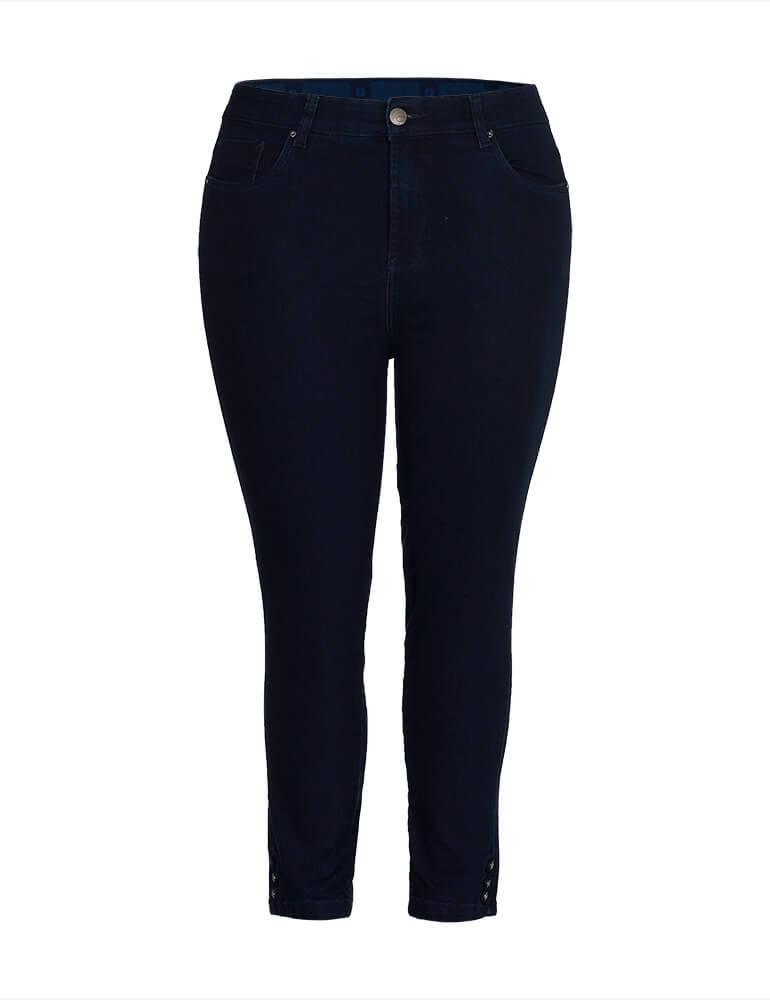 Calça Sarja Cropped Feminina Fact Jeans ref. 04000 - Plus Size