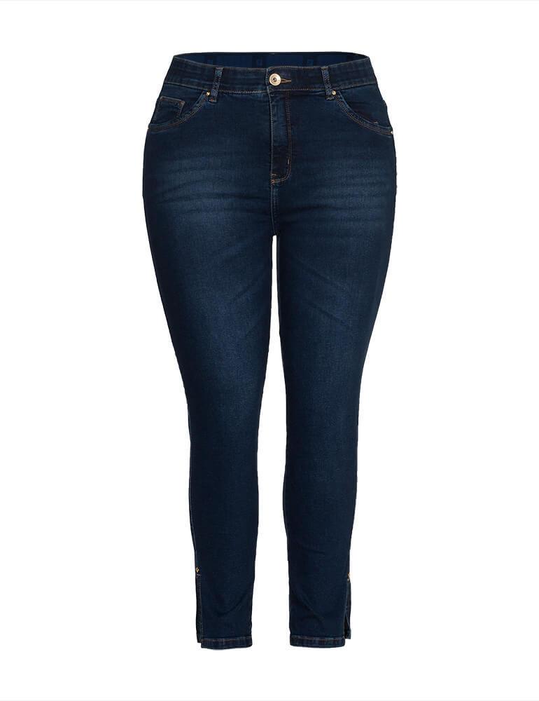 Calça Sarja Cropped Feminina Fact Jeans ref. 04059 - Plus Size