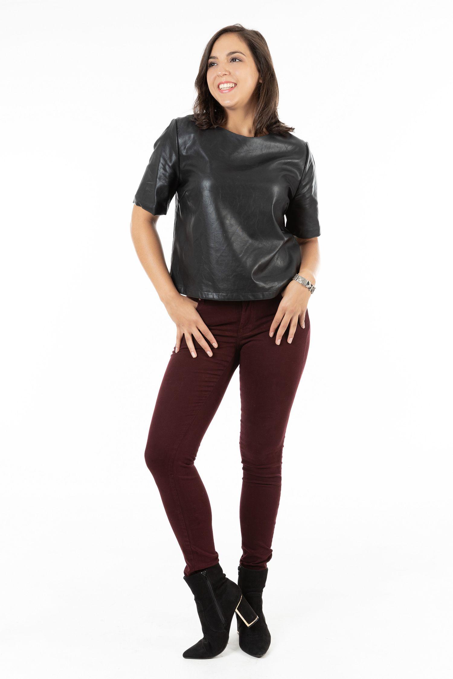 Calça Skinny Feminina Fact Jeans - Vinho ref. 03246