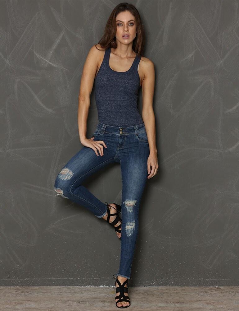 Calça Skinny Feminina Fact Jeans ref. 03128