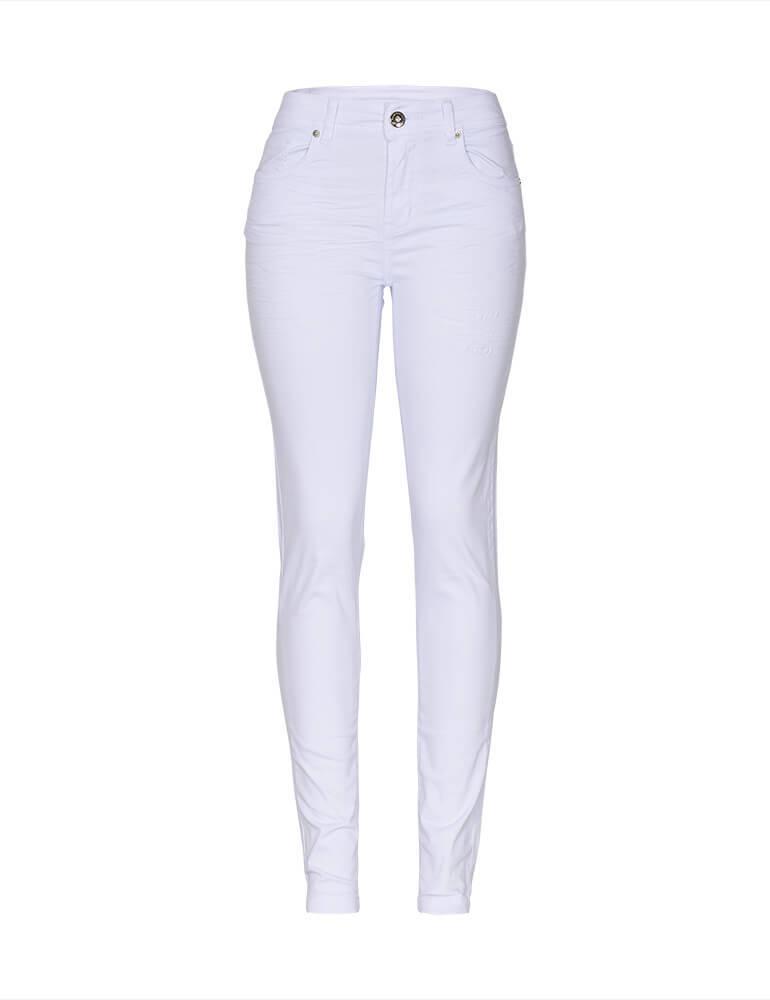 Calça Skinny Feminina Fact Jeans - Branca [3574]