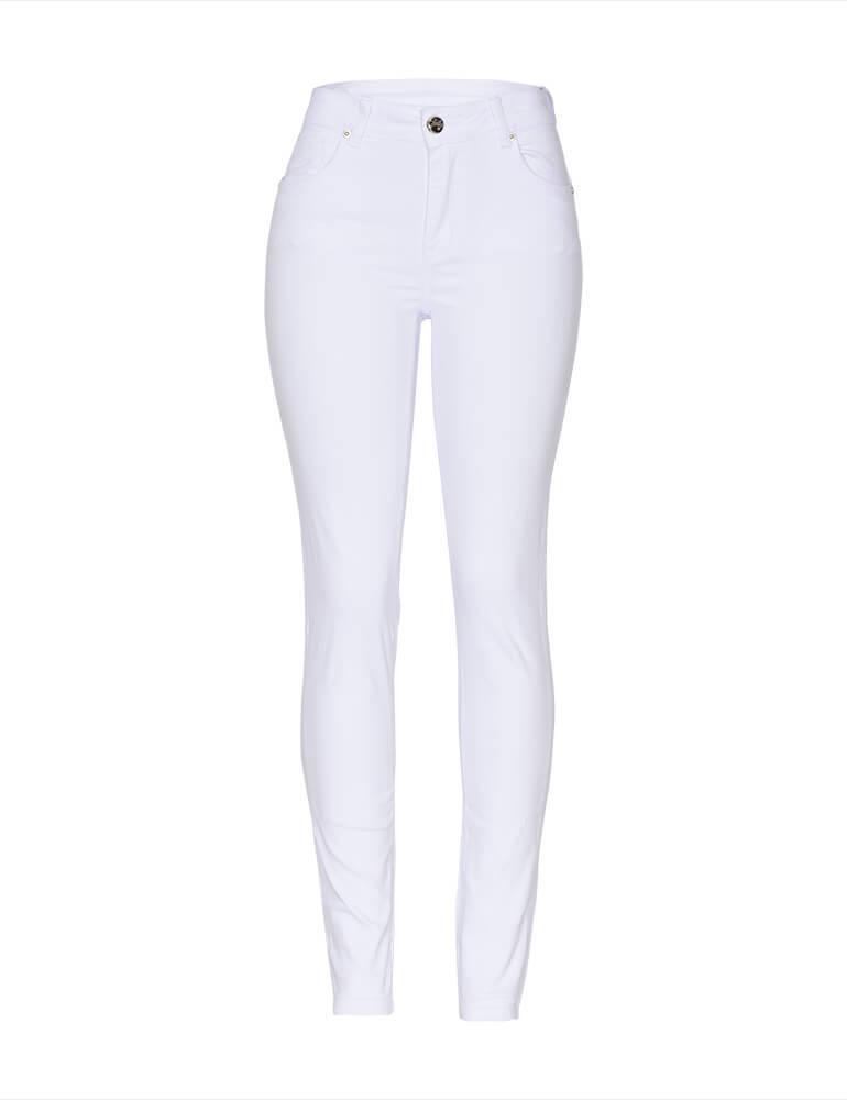 Calça Skinny Sarja Fact Jeans - Branca ref. 03635
