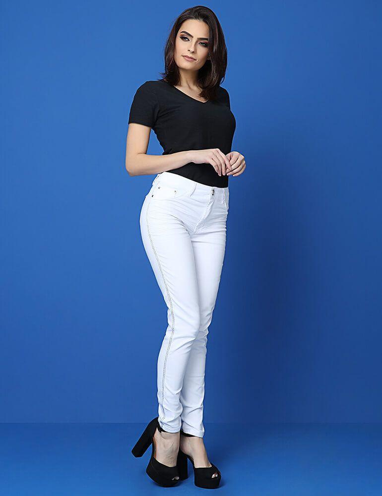 Calça Skinny Feminina Fact Jeans - Branca [03747]