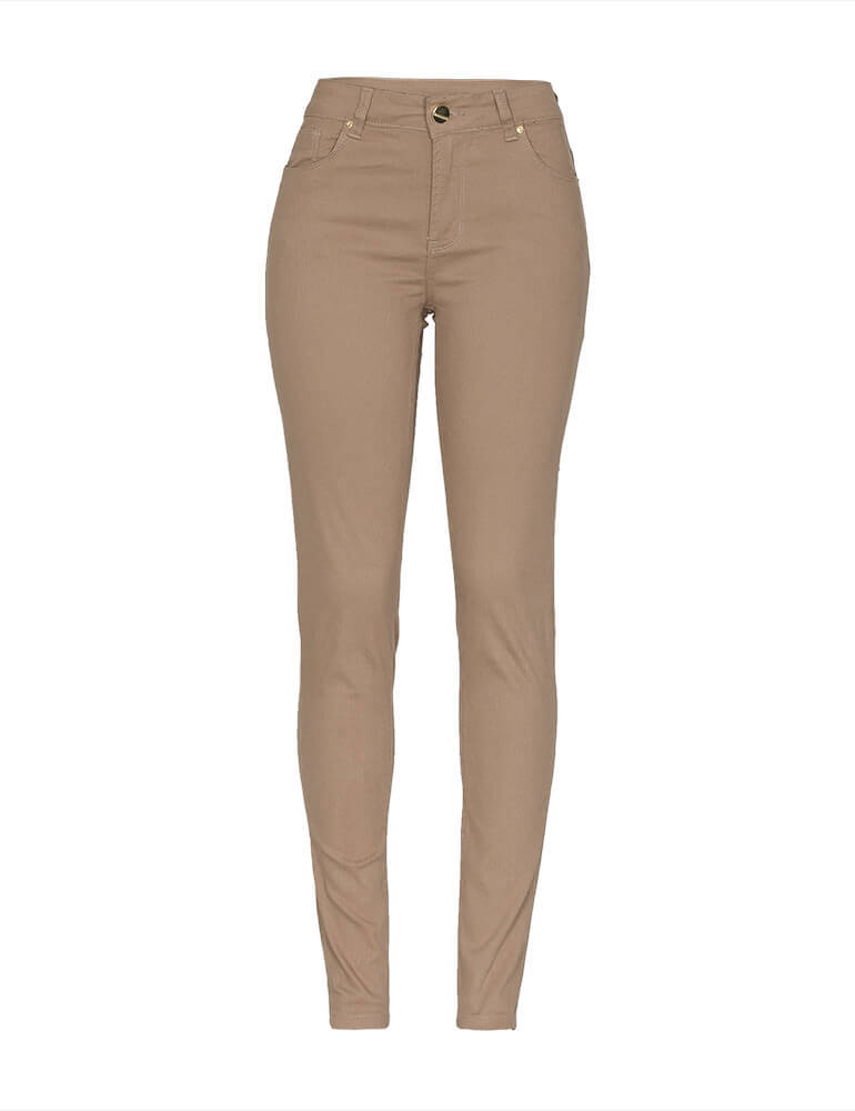 Calça Skinny Feminina Fact Jeans - Caramelo [3671]