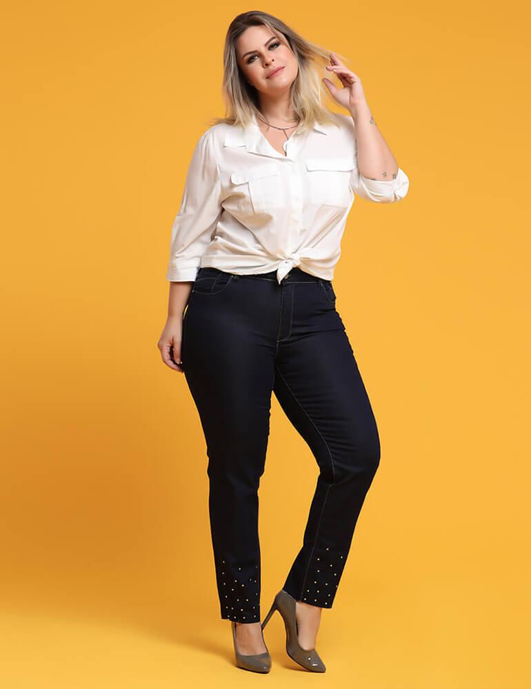 Calça Skinny Feminina Fact Jeans Plus Size ref. 03252