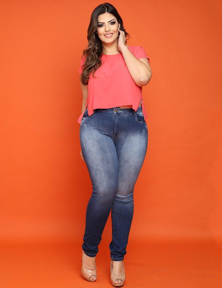 Calça Skinny Feminina Fact Jeans Plus Size [3336]