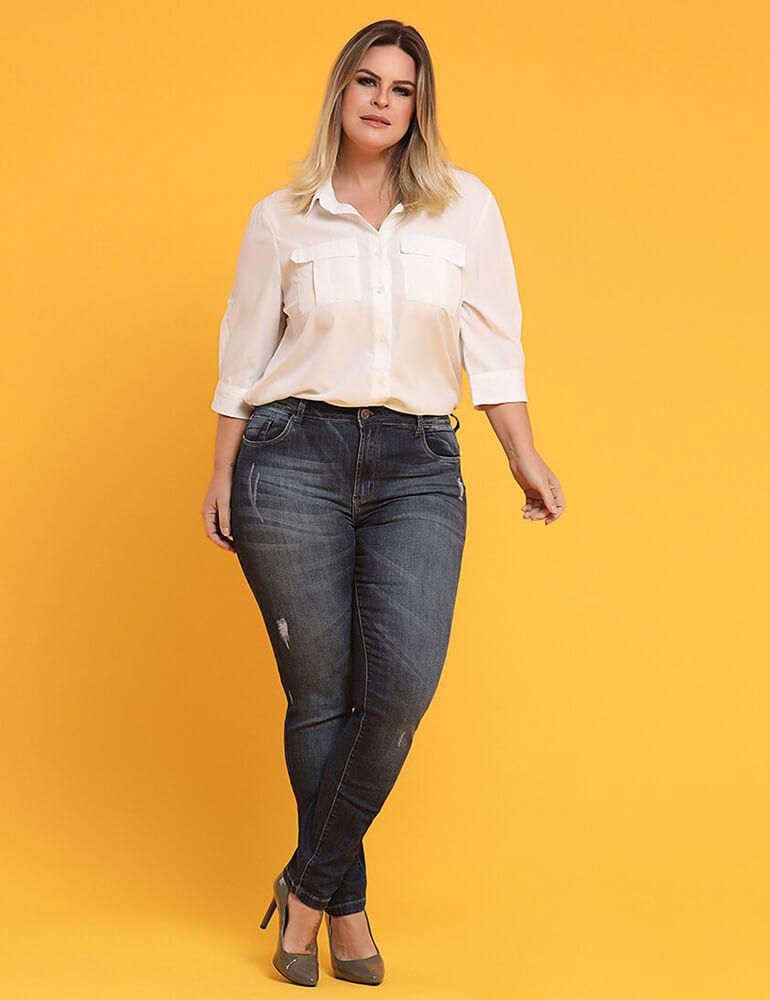 Calça Skinny Feminina Fact Jeans Plus Size [03599]