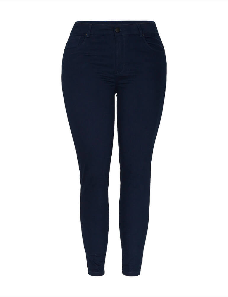 Calça Skinny Feminina Fact Jeans Plus Size - Marinho [3672]