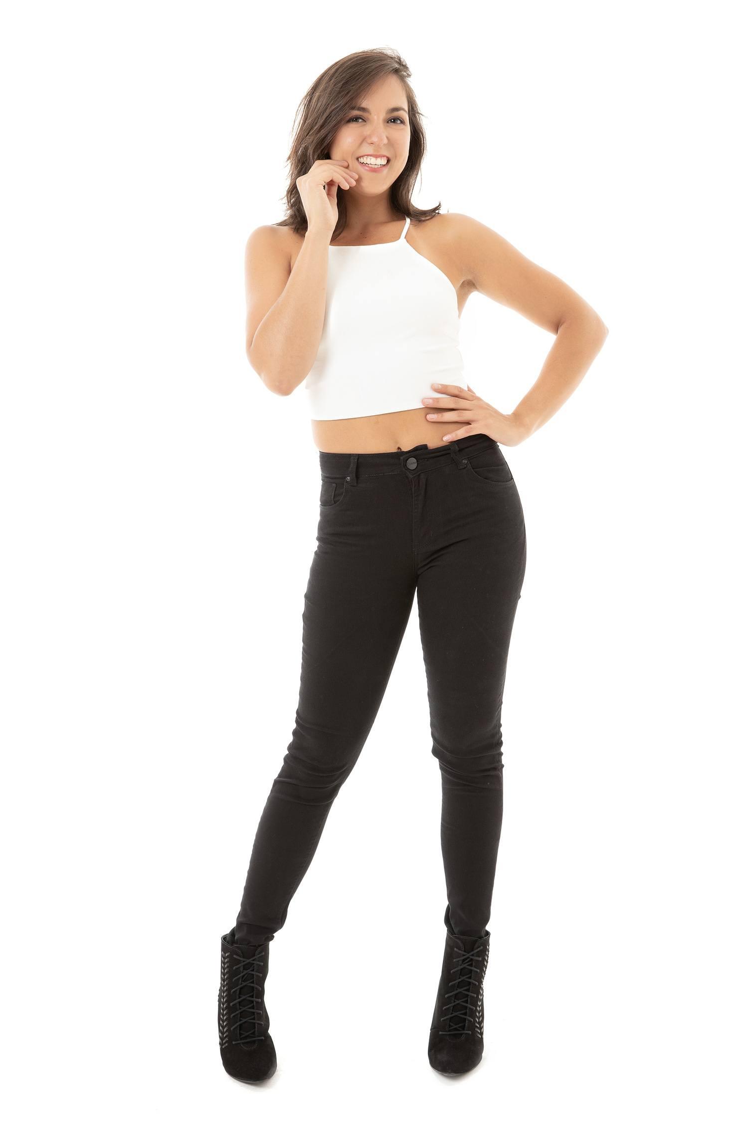 Calça Skinny Feminina Fact Jeans - Preta ref. 03671
