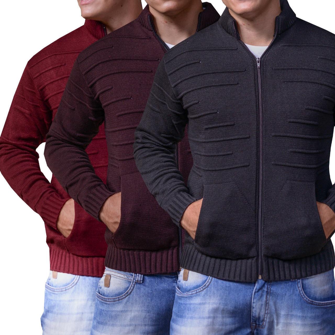 26edb21b4f camisa masculina térmica kit 3 casaco de lã frio i.