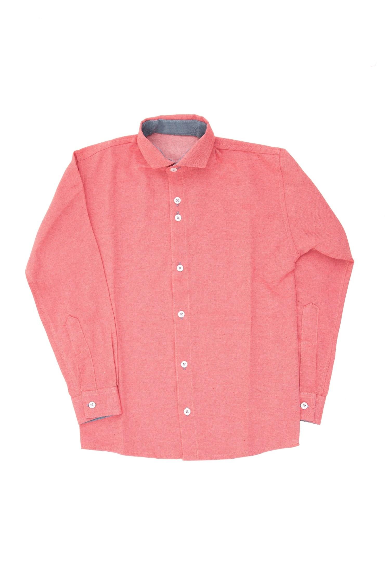 Camisa Social Slim Color Infantil Masculina [42837]