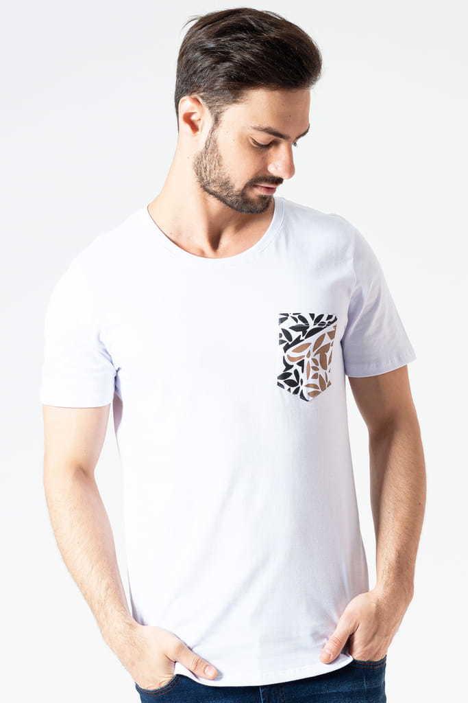 Camiseta Bolso Logo KSA Branca
