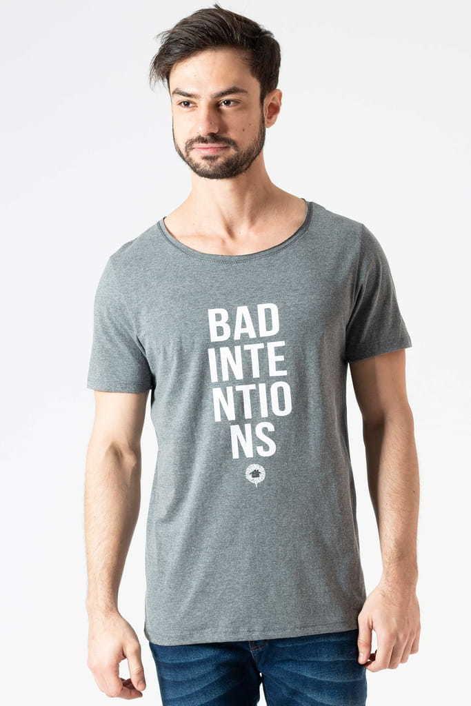 Camiseta Gola Canoa Bad Intentions Cinza