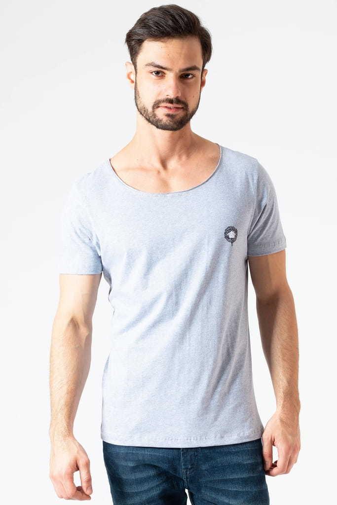 Camiseta Gola Canoa Clássica KSA Cinza