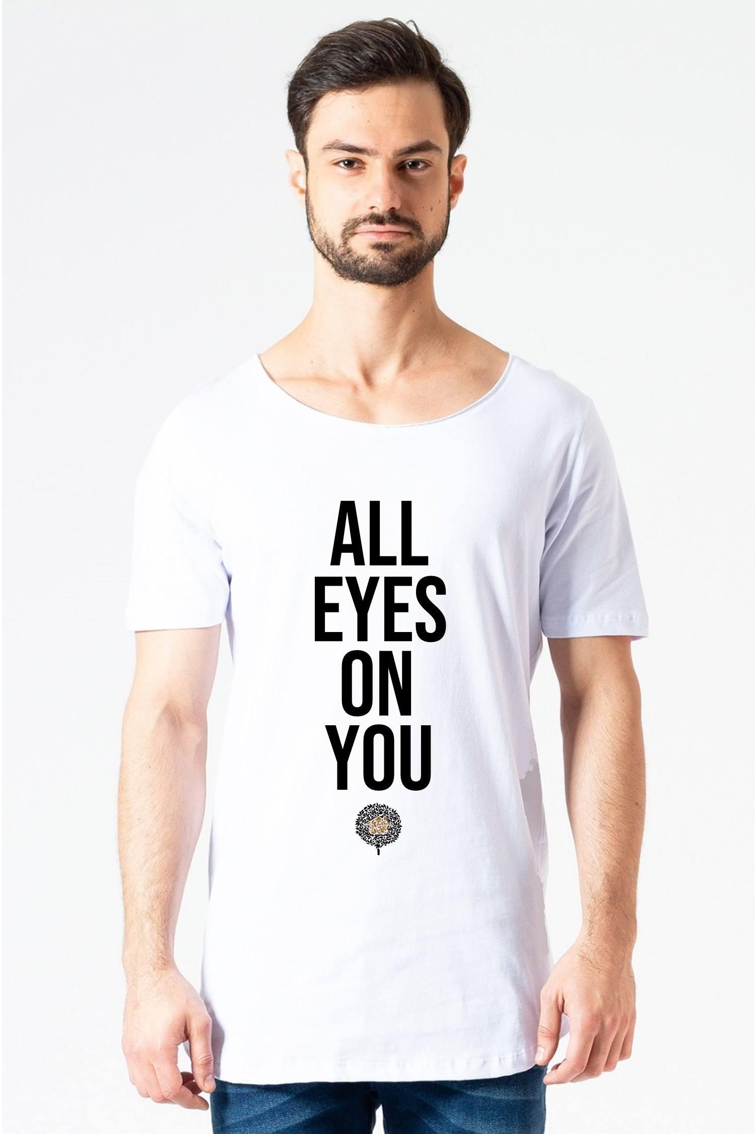 Camiseta Longline All Eyes Branca