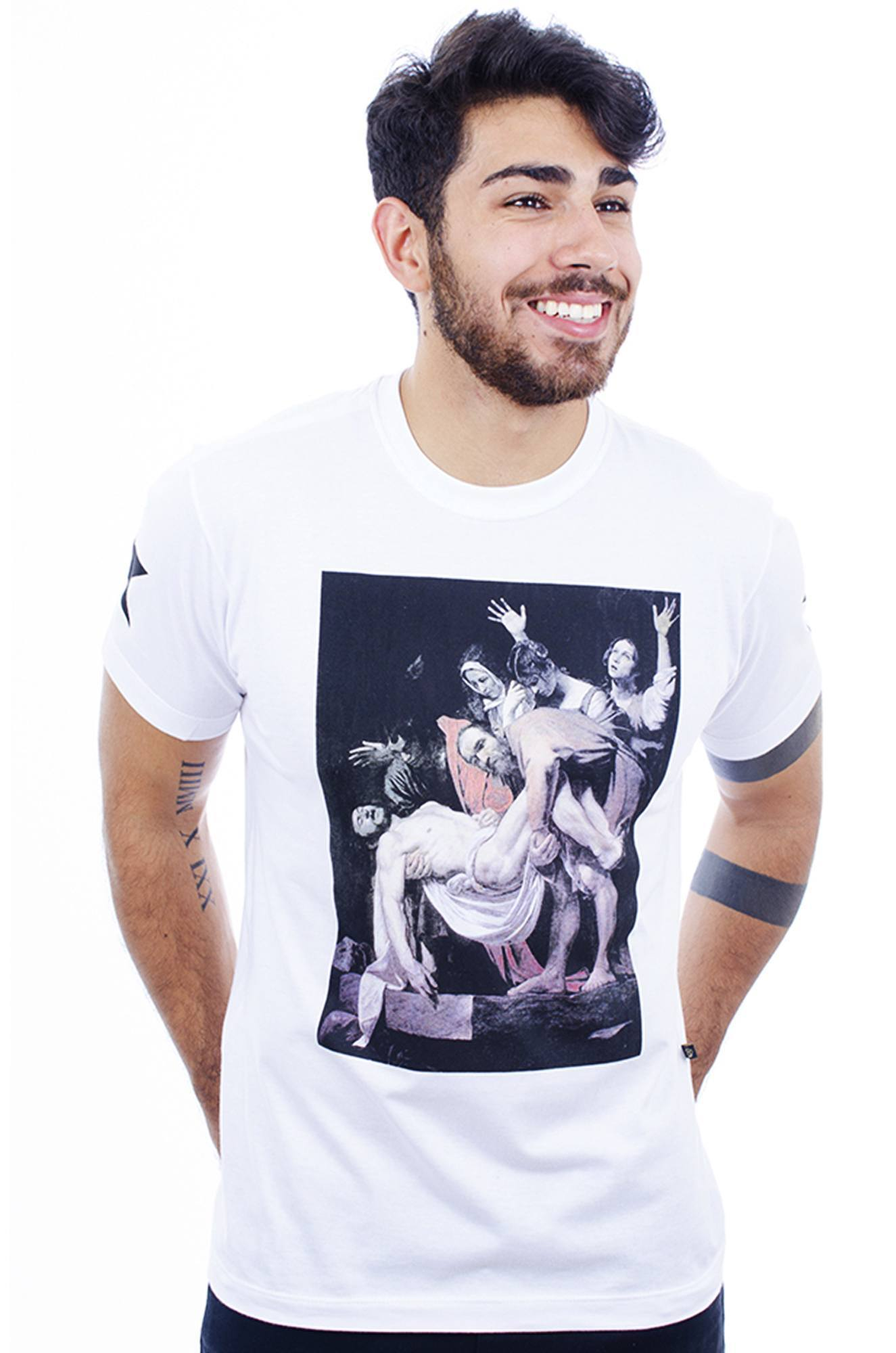 Camiseta Masculina Estampada Hardivision Faith Branco