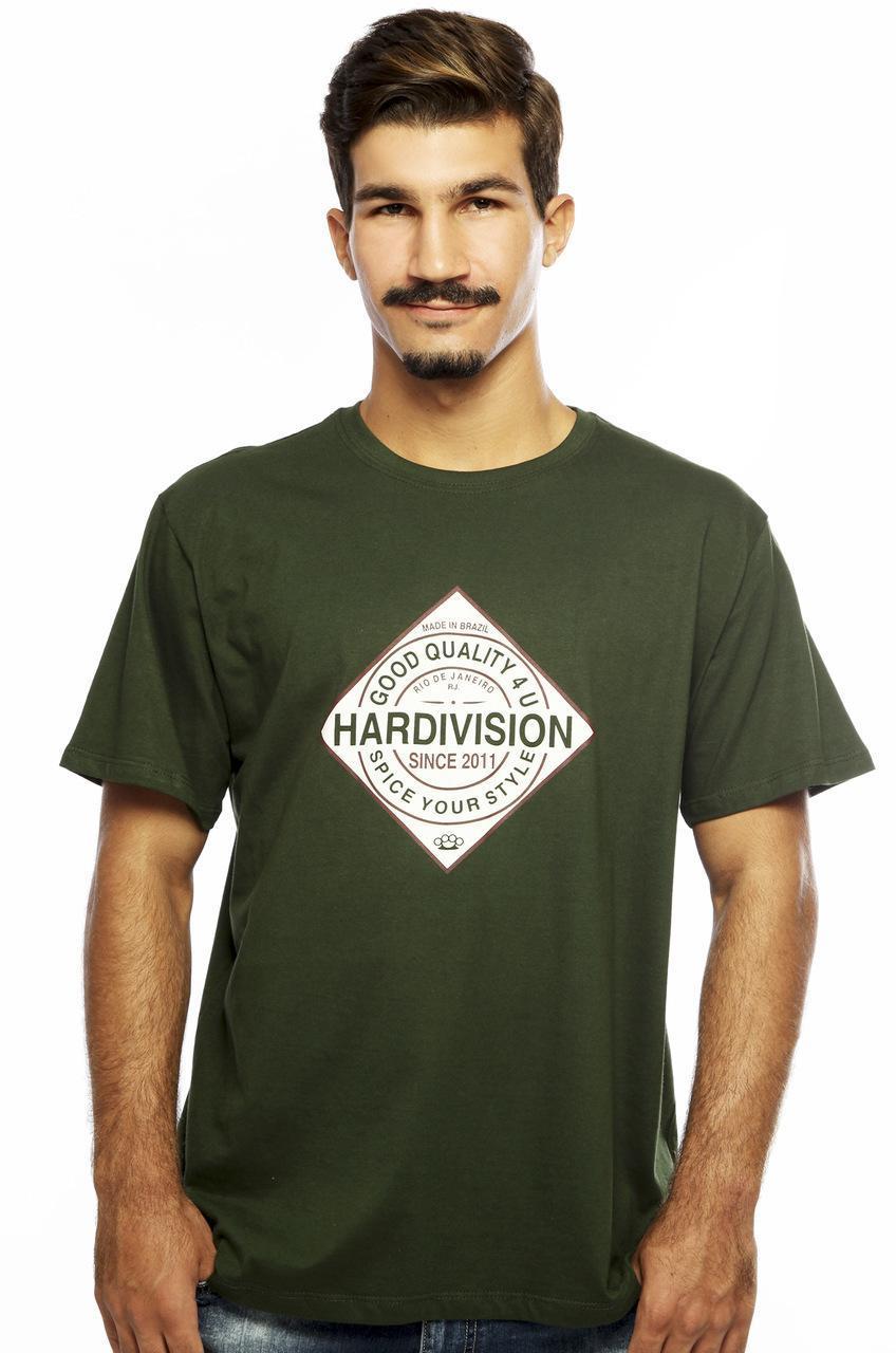 Camiseta MasculinaEstampada Spice Verde Hardivision