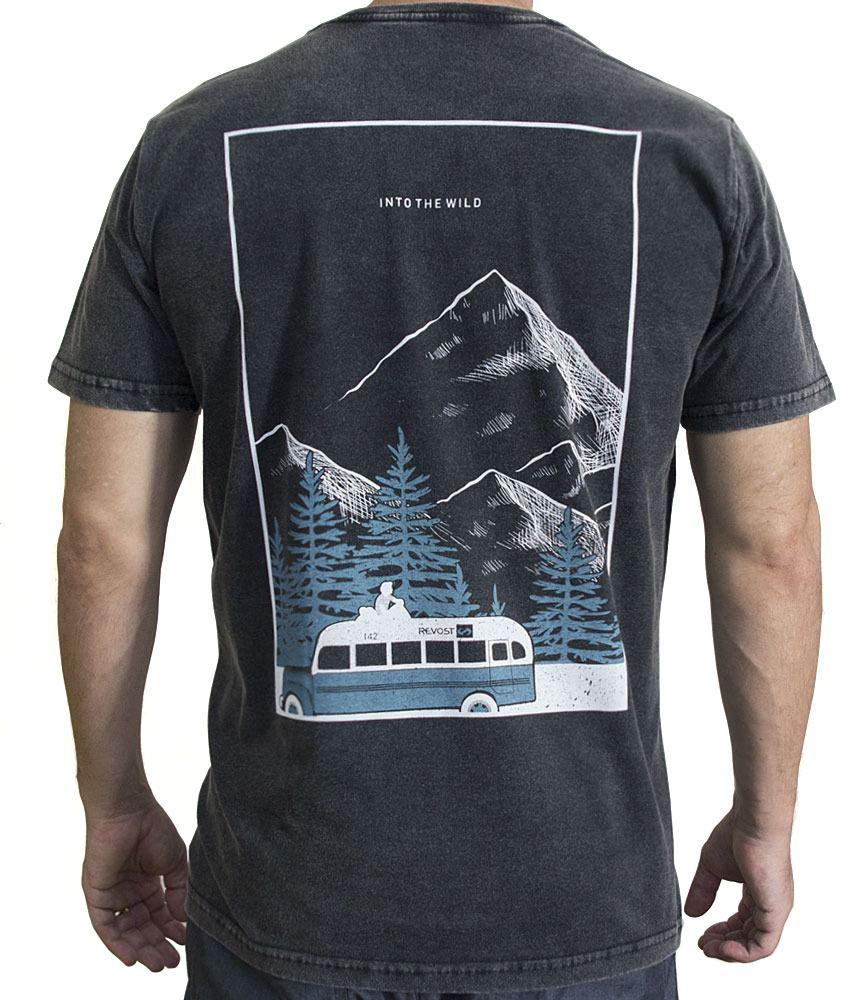 Camiseta Masculina Into The Wild - Preto