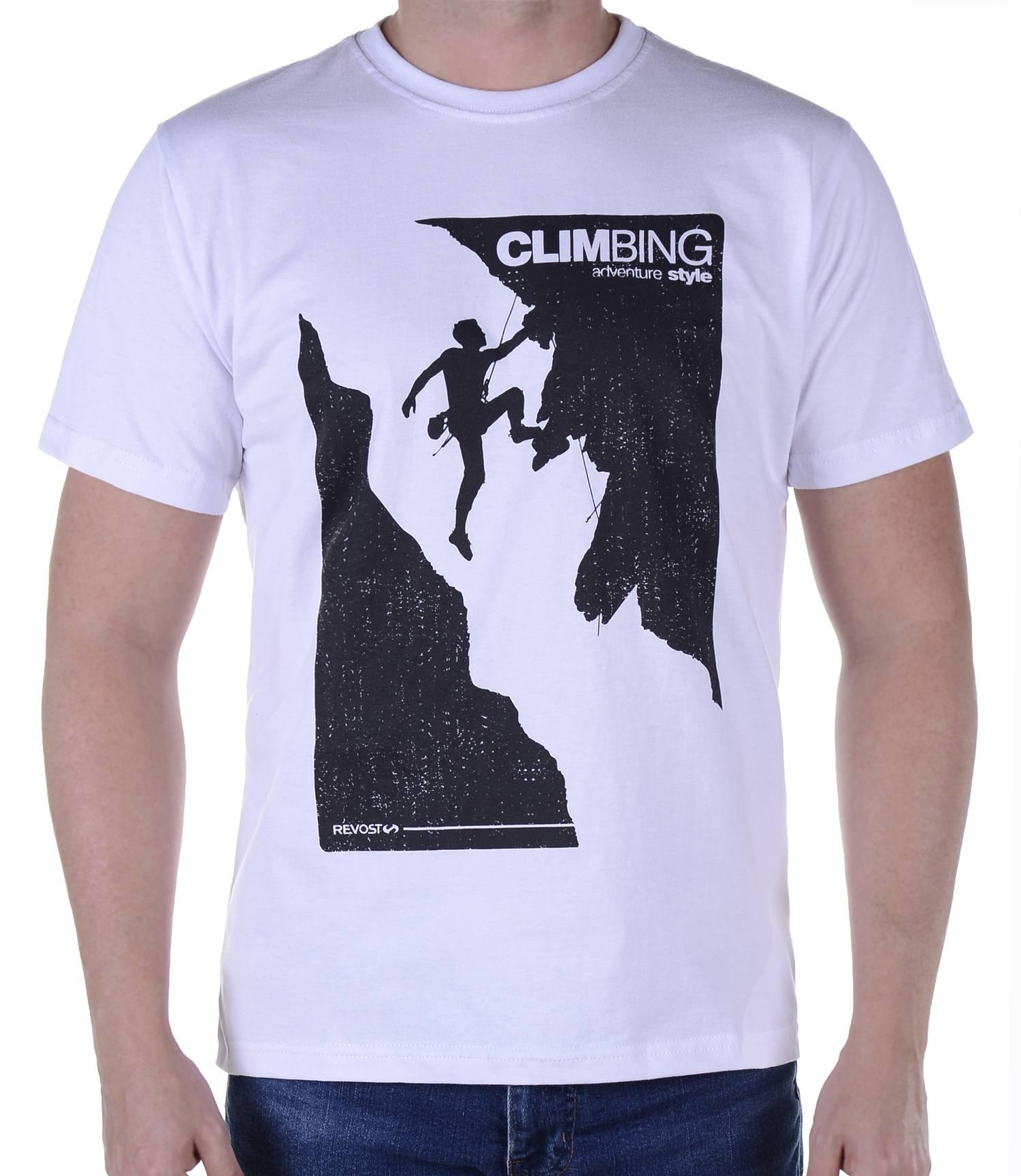 Camiseta Masculina Revost Climbing - Branco
