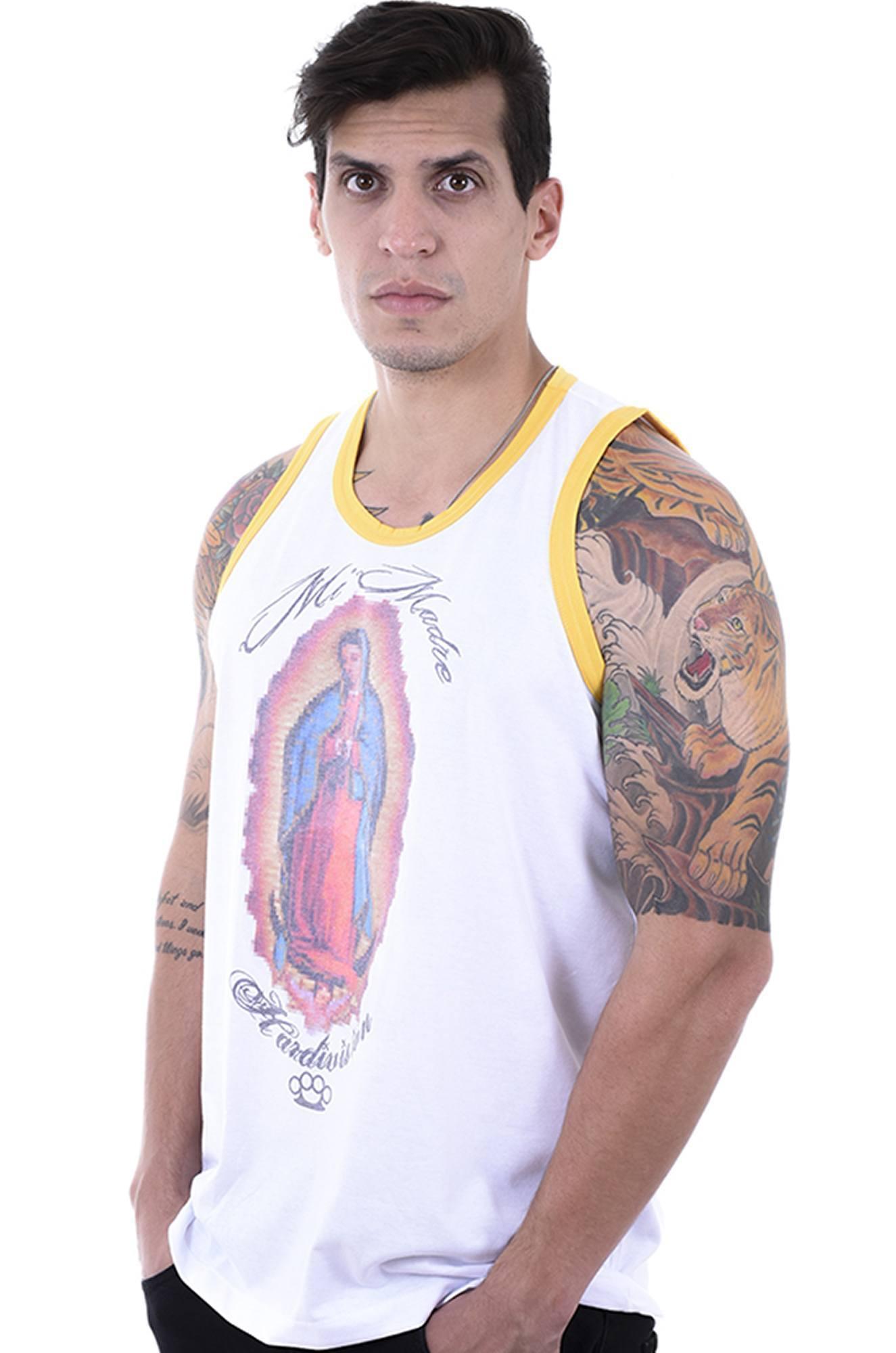 4e17fef3e0 Camiseta Regata Masculina Hardivision Mi Madre Branco