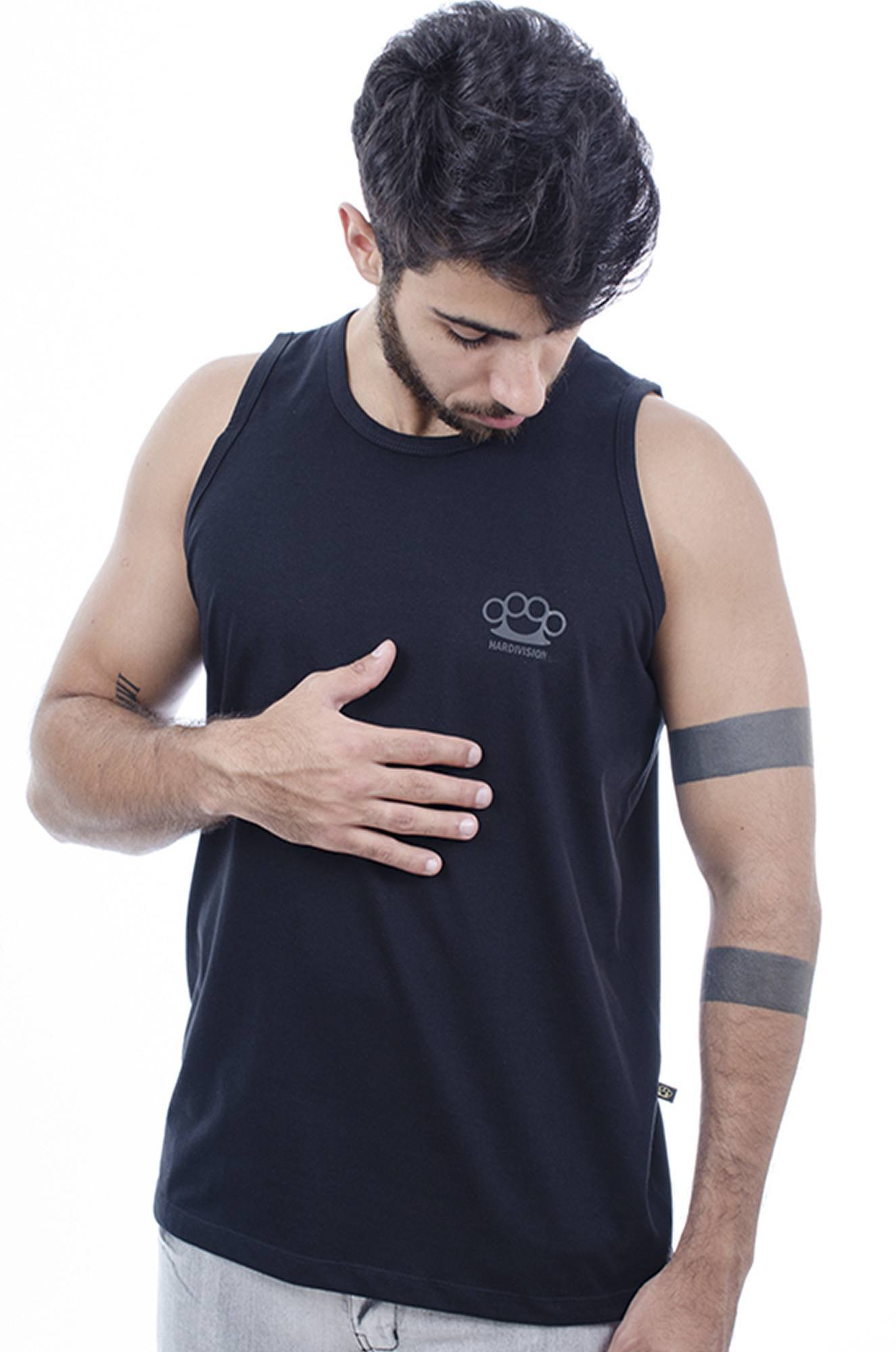 Camiseta Regata Masculina Hardivision Simple Preto