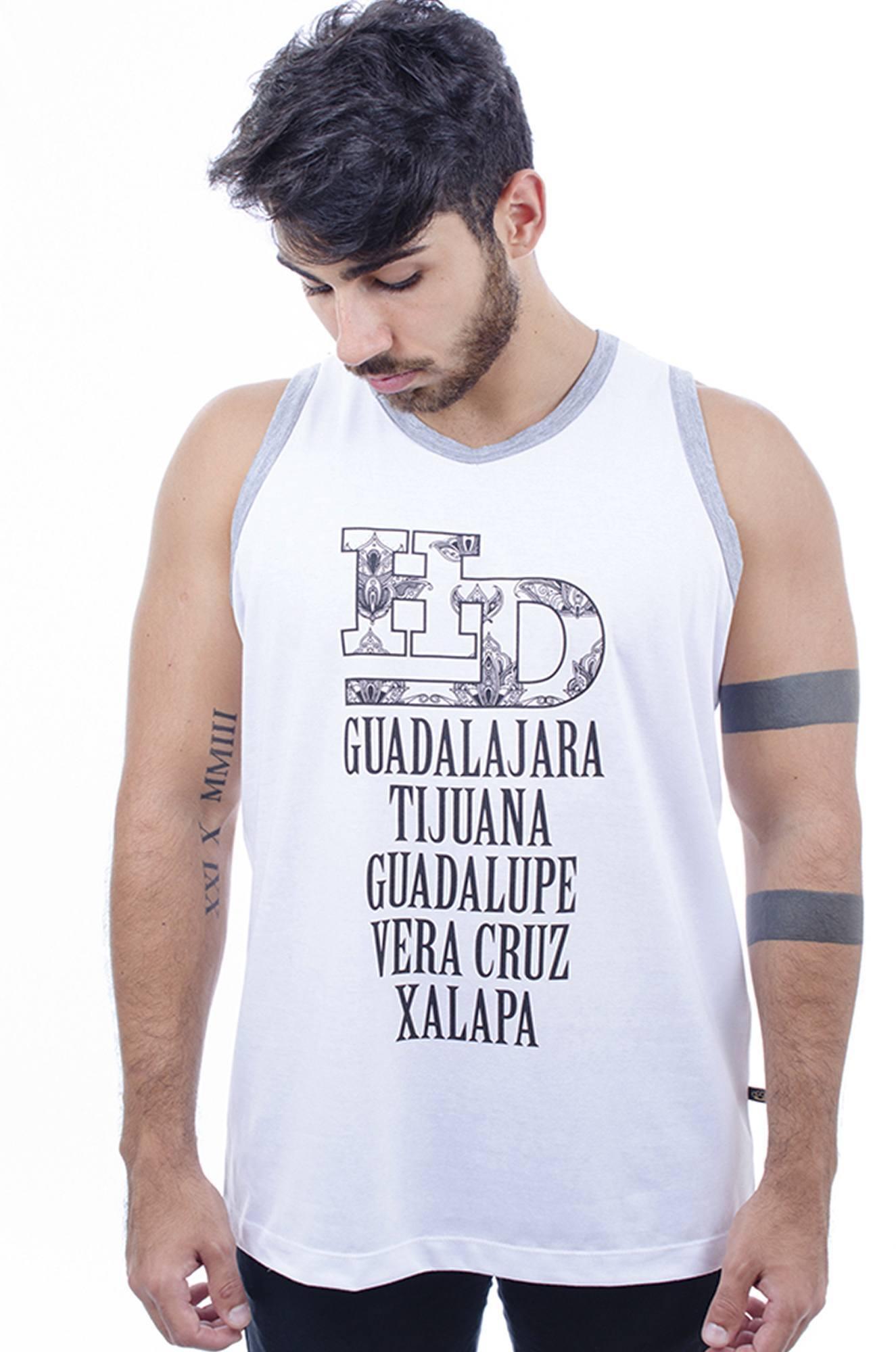 Camiseta Regata Masculina Hardivision Xalapa Branc. 09675e13251