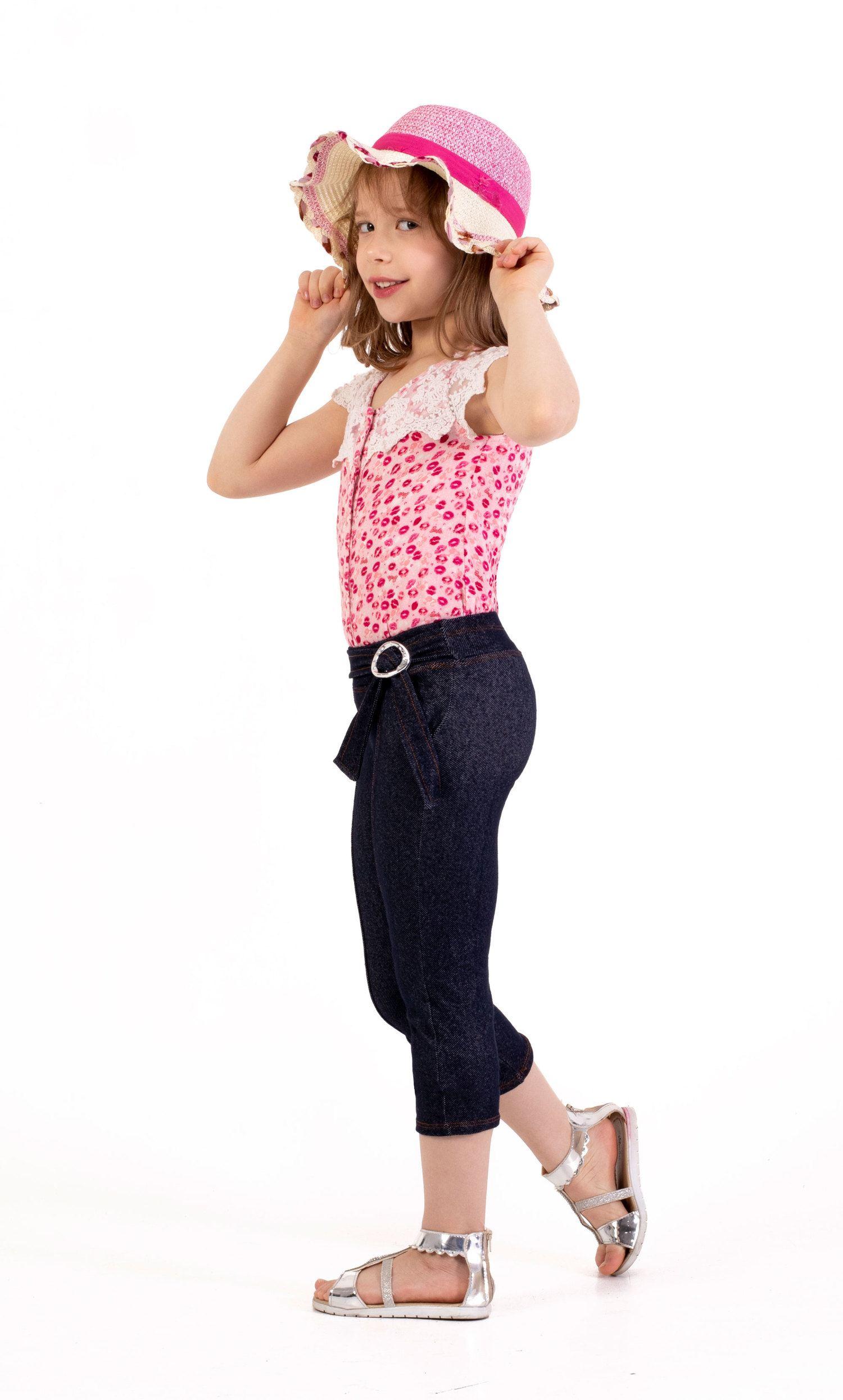 Capri Cotton Jeans OverKids  (Ref 101102)