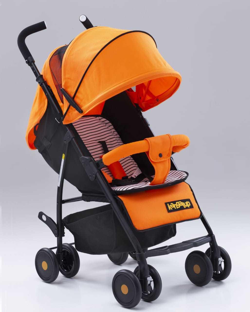 Carrinho de Bebê modelo x1 Laranja Kangalup