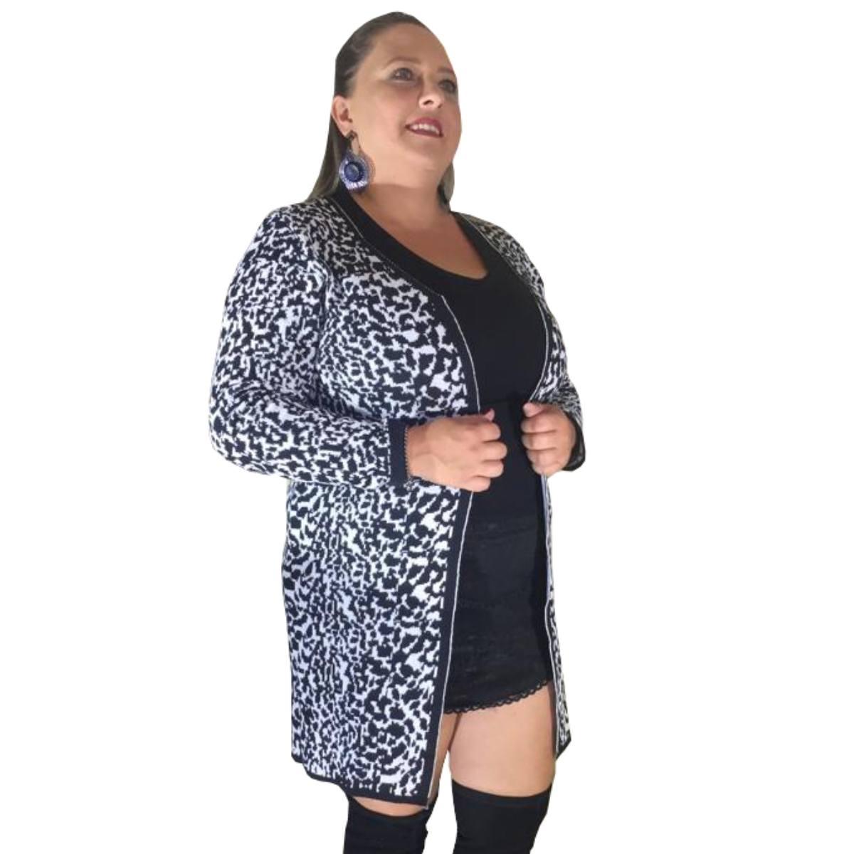 casaco plus size de inverno moda feminina 2019