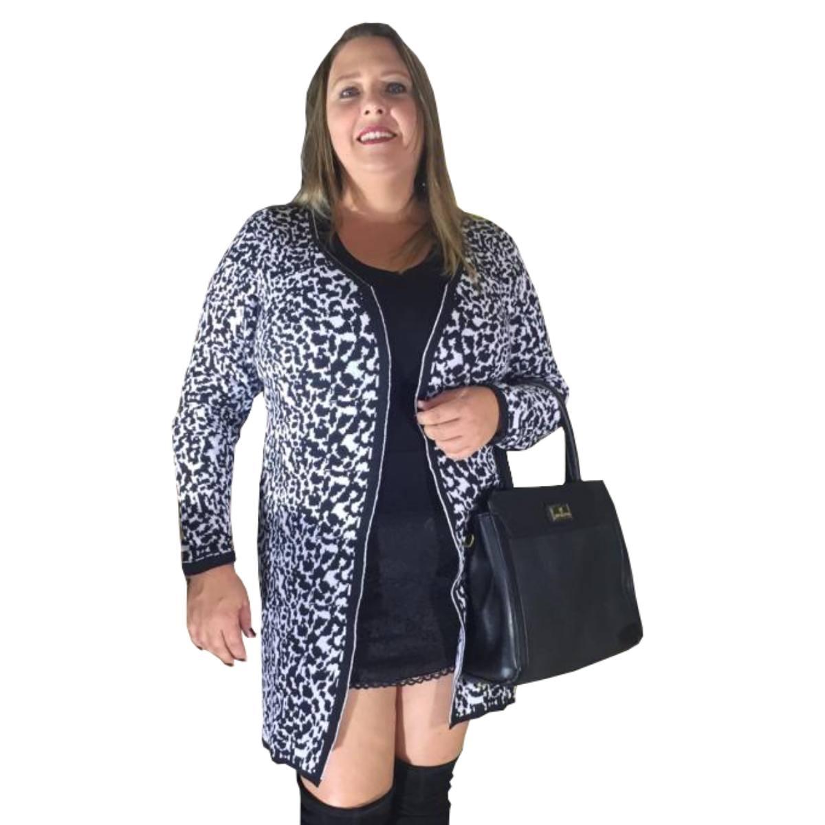 55f9b93ae casaco plus size de inverno moda feminina 2019