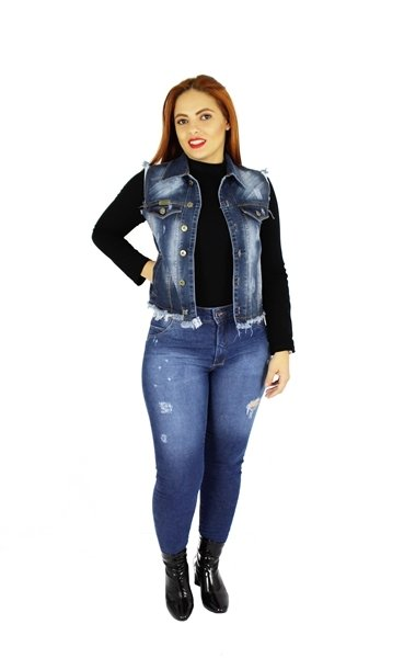 Colete Dinho´s Jeans Pátria Desfiado