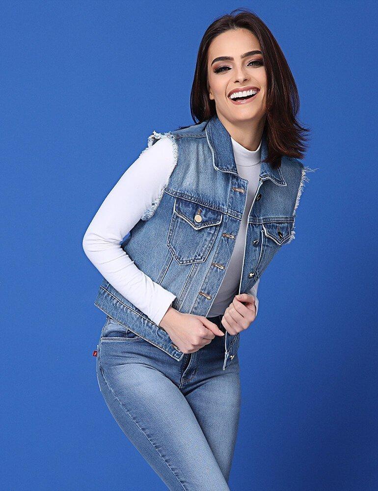 Colete Jeans Feminino ref. 03550