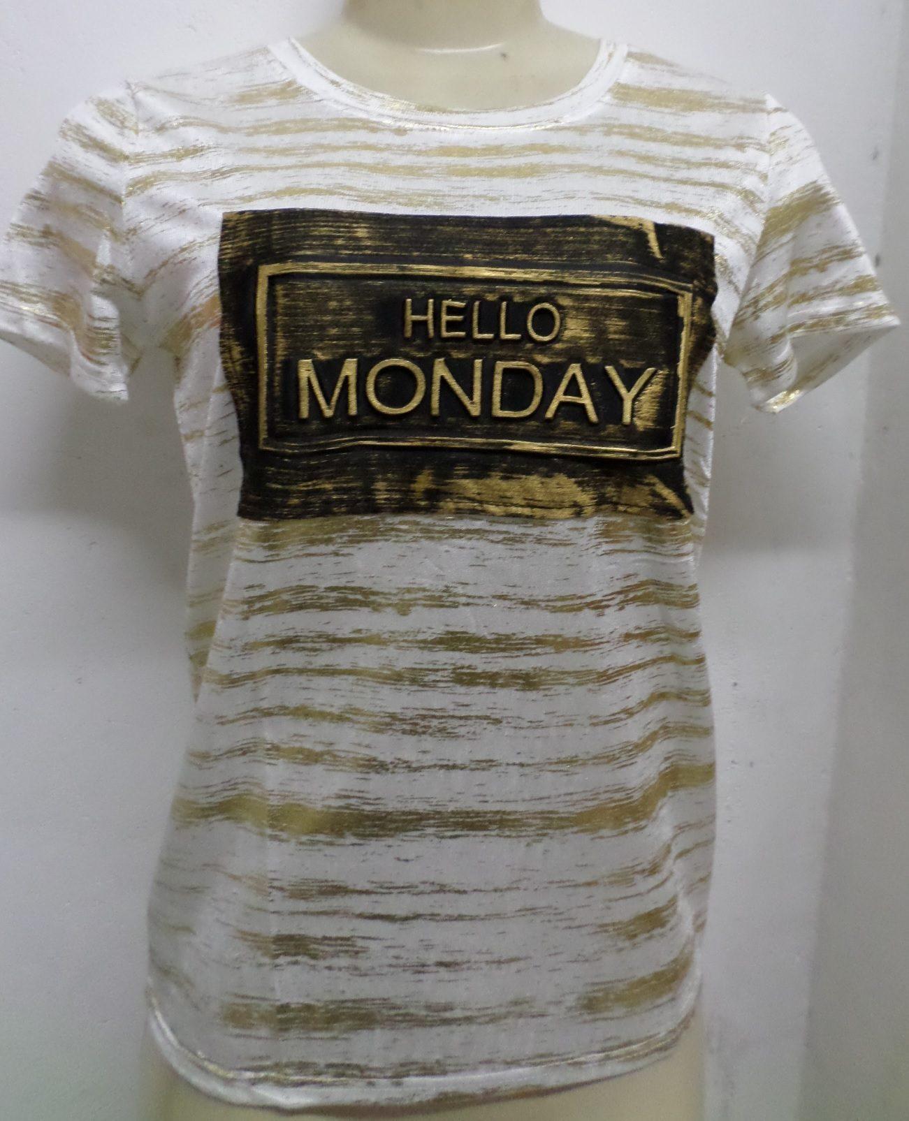 Blusa Feminina Estampa Alto Relevo - R$19,99 - [PINK137]