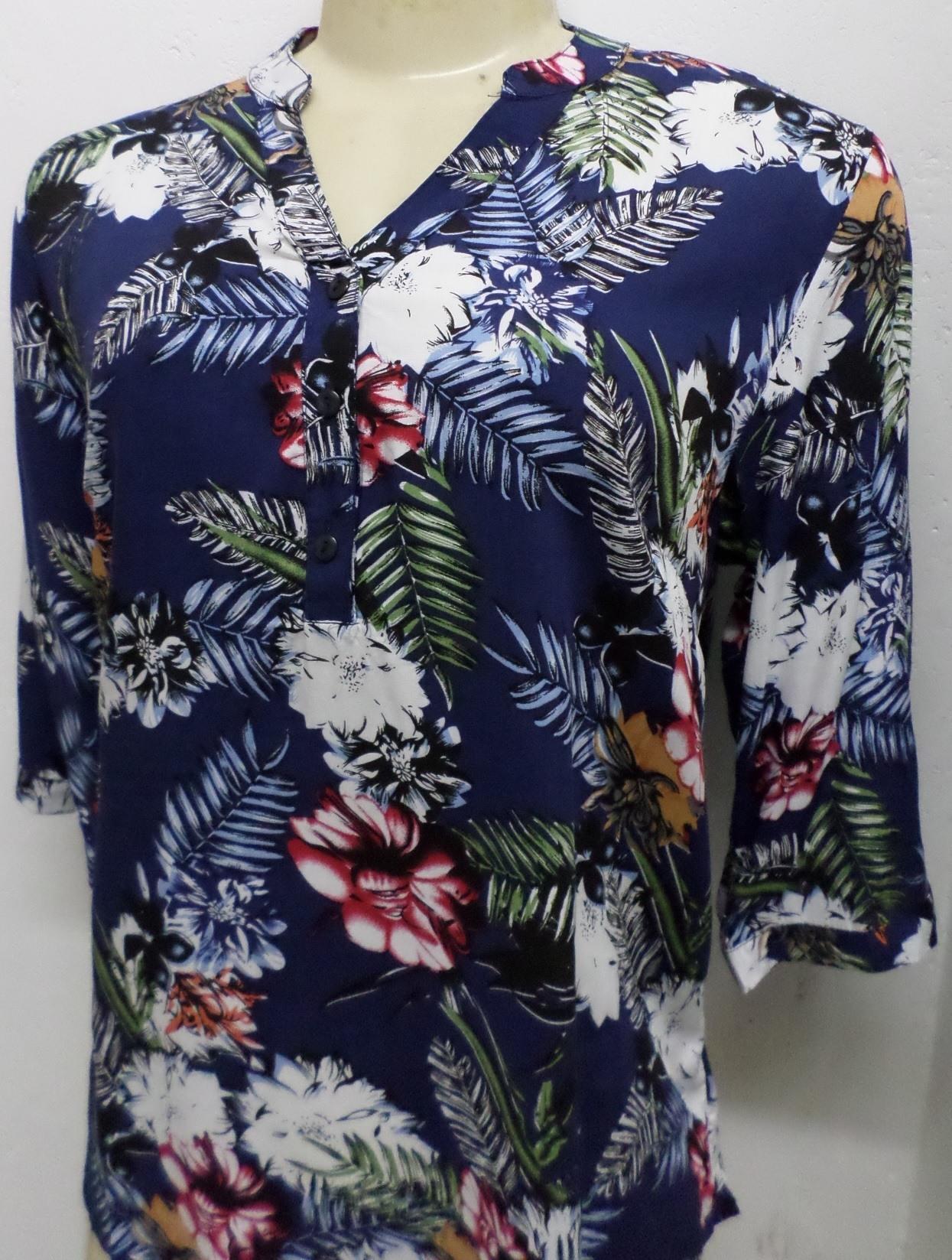 Blusa Feminina Estampa Florida - R$34,99(P M G) R$39,99(GG) - [PINK139]